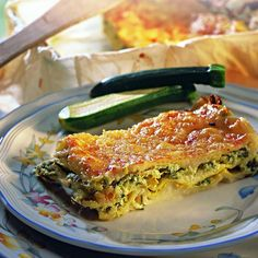 Lasagna with Zucchini and Goat Recipe Goat Recipes, Ww Recipes, Italian Recipes, Cooking Recipes, Healthy Recipes, Easy Cooking, Healthy Cooking, Best Diet Foods, Confort Food