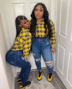 Swag Outfits For Girls, Teenage Girl Outfits, Cute Swag Outfits, Dope Outfits, Classy Outfits, Matching Outfits Best Friend, Best Friend Outfits, 16th Birthday Outfit, Baddie Outfits Casual