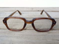 136ff18eab5 Vintage USS Military Issue Glasses   Brown   by ArchaicEmporium