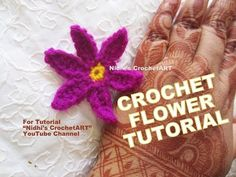 How to Crochet- Small Easy DIY Flower Stitch Tutorial Tips for Beginners