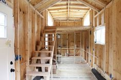 Shed Homes, Tiny Homes, Dream Homes, Storage Building Homes, Building A House, Diy Storage Shed, Built In Storage, Shed Cabin, Shed To Tiny House
