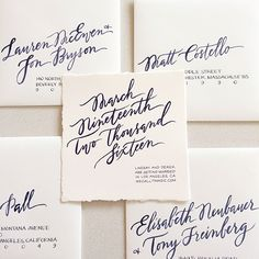 What a stunning Save the Date invitation. Love the simplicity and gorgeous calligraphy.