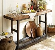 Easy to build thin table with barn board top