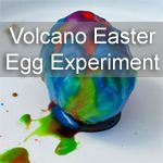 Kids love coloring Easter eggs, why not take it to the next level. This is a fun messy volcano Easter egg experiment that your kids will love.