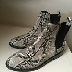 NWOT Joie Snakeskin Booties Never worn leather booties by Joie. They look so amazing on! They fit like 7-7.5. No trades. Offers welcome. Happy Poshing!  Joie Shoes Ankle Boots & Booties