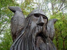 Hugin og Munin. The ravens of Odin. Iceland