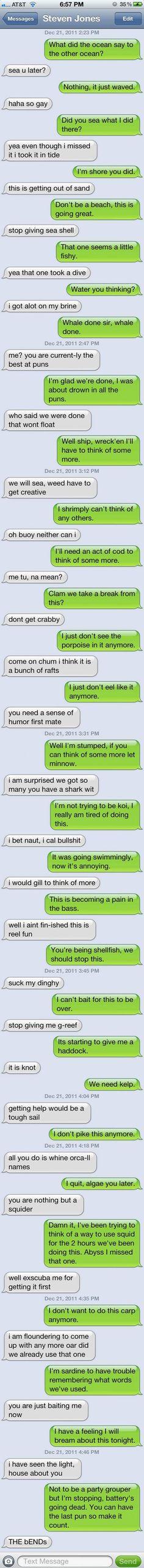 Text Message Puns
