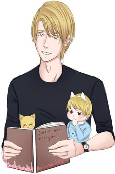 Nath, baby and cat by Airaily on DeviantArt