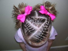 Triple French Braids & Piggies - Triple French Braids & Piggies Hairstyles For Girls – Hair Styles – Braiding – Princess Hairstyles Baby Girl Hairstyles, Princess Hairstyles, Cute Hairstyles, Braided Hairstyles, Hairstyles 2016, Asian Hairstyles, Teenage Hairstyles, Hair Due, Her Hair