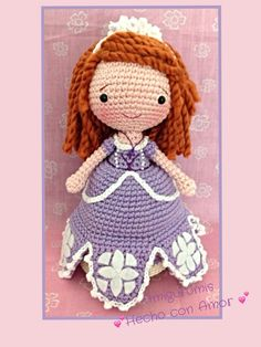 http://www.aliexpress.com/store/1687168  Princesa Sofía amigurumi https://www.facebook.com/Amigurumishechoconamor