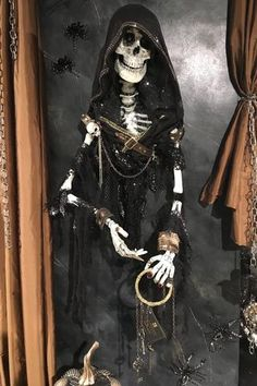 Halloween Decorations - Halloween Decor Page 12 - TheHolidayBarn.com Halloween Skeletons, Halloween Decorations, Skulls, Collection, Products, Fashion, Moda, Fashion Styles, Halloween Prop
