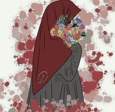 Girl Cartoon, Cartoon Art, Muslim Pictures, Hijab Drawing, Islamic Cartoon, Anime Muslim, Hijab Cartoon, Islamic Girl, Muslim Girls