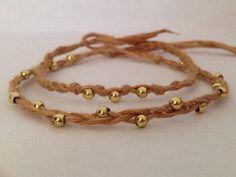 Boho Beaded Bracelets (set of 2) on Etsy, $2.50