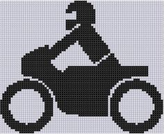 Motorcycle and Rider Cross Stitch Patter | Craftsy