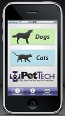 Pet CPR, First Aid and emergency info app for Android and Iphone. A must have. Also can direct you to nearest emergency vet, and many other great options. Worth every penny.