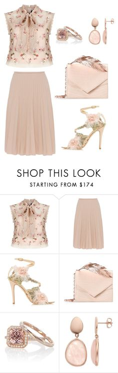 """""""Romance"""" by queen-naznaz ❤ liked on Polyvore featuring Needle & Thread, Piazza Sempione, Marchesa and RALPH & RUSSO"""