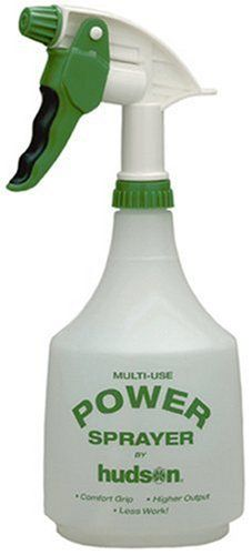 Hudson 36-Ounce Power Trigger Sprayer 22146 by Hudson. $4.24. Returns will not be honored on this closeout item. 32-ounce capacity. Trigger sprayer. Limit 1 per order. From the Manufacturer                The Hudson Power trigger sprayer is perfect for spraying indoor plants or patio planters.                                    Product Description                Power trigger sprayer features a comfort grip trigger that adjusts from a very fine mist to a long-range strea...