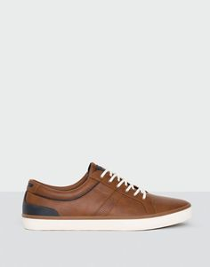 Pull&Bear - hombre - calzado - ver todo - bamba urbana ribete - cuero - 13405212-I2016
