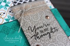 Stampin Up Moroccan Nights stamp set and Moroccan DSP. Masculine thinking of you card by Claire Daly Stampin' Up! Demonstrator Melbourne Australia