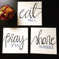 Canvas Art Eat Pray be merry Dining Room Decor Wall Art Home Decor wall hanging…