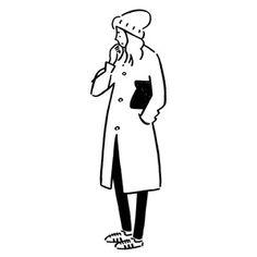 長場雄がイラスト作品を3次元の等身大スケールで体験できるインスタレーションを開催 Simple Illustration, Illustration Ligne, Character Illustration, Doodle Drawings, Easy Drawings, Minimal Drawings, Minimalist Drawing, Ligne Claire, Affinity Designer