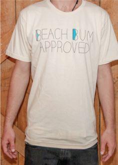Beach Bum Approved Tee   Steezy Surfer   Premium Men's Surfwear