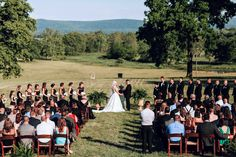 A stunning view of the Blue Ridge Mountains were the backdrop for the wedding ceremony. Stunning View, Beautiful, Blue Ridge Mountains, Country Estate, Ivory Wedding, Wedding Ceremony, Backdrops, Dolores Park, Wedding Planning