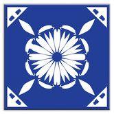 """Found it at Wayfair - Folksy Love 4-1/4"""" x 4-1/4"""" Satin Decorative Tile in Gram's Kitchen Blue"""