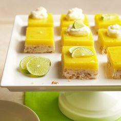 Lime-Pecan Shortbread Bars