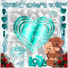 Lots of Love and Hugs for you my friend friendship glitter hugs friend friendship quote friend quote graphic friend animated