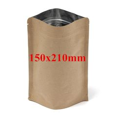 Kraft Paper Bags Aluminum Foil Packaging Stand Up With Zipper for Food Storage 150x210mm