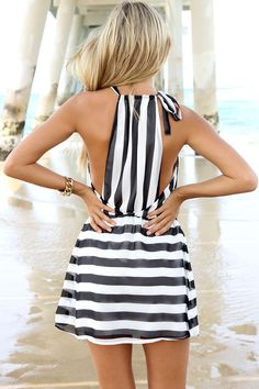 Adorable striped dress!