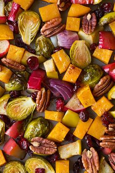 Autumn Roasted Veggies with Apples and Pecans Recipe on Yummly. @yummly #recipe