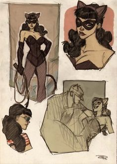 Denis Medri returns to take a look at the rogues of Gotham and more of Batman's supporting. Catwoman, Joker, Poison Ivy and Bane join Batgirl, James Gordon and Alfred in round out this amazing collection of Rockabilly gothamites. It's interesting to note that reimagining Catwoman for the 1950s brings her costume full circle, close to her original suit from the 1940s.