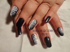 Black & White  by AGnails from Nail Art Gallery