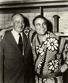 With his father, Marlon Brando Sr. Marlon Brando, Ronald Reagan, Charlie Chaplin, Nebraska, Divas, Diana Krall, Celebrities Then And Now, Actor Studio, Old Movie Stars