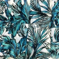 Our new tropical leaf prints are here and ready for an island getaway! Tropical Design, Tropical Pattern, Green Pattern, Tropical Prints, Textile Prints, Leaf Prints, Textiles, The Style Council, Textile Pattern Design