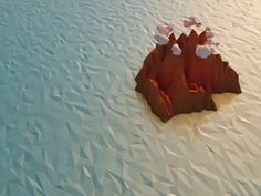 Low Poly Island by Dave Gawron