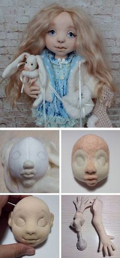 How to make fabric doll. Click on image to see step-by-step tutorial