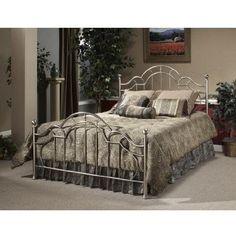 Amazon.com: Hillsdale Furniture 1349BK Mableton Bed Set, King, Antique Pewter: Furniture & Decor