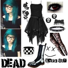 Party In The Graveyard by fallen000 on Polyvore featuring Trend Cool