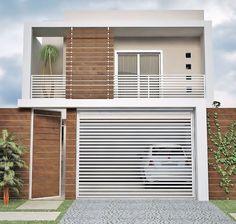 Fotos de fachadas de casas simples, pequenas e baratas Plans Architecture, Architecture Design, Eckhaus, House Front Design, House Elevation, Gate Design, Facade House, House Facades, House Goals
