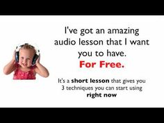 Dealing with theTerribleTwo's-Talking to Toddlershttp://go.clickmeter.com/jpsn/    If you find yourself going crazy because your kids just don't seem to listen to you, this webinar is your answer. Author and Certified Master Hypnotist, Chris Thompson, teaches you what really drives kids' behavior and hands you powerful communication strategies to fix the problem. Permanently. Limited space. Register now  http://go.clickmeter.com/jpsn/