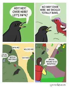 Netflix and chill?) Happy V-Day Gaggers lol - Angry Birbs, 9gag Funny, Funny Jokes, That's Hilarious, Funny Cartoons, Funny Comics, Power Rangers, Netflix, Happy V Day