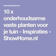 10 x onderhoudsarme vaste planten voor je tuin - Inspiraties - ShowHome.nl