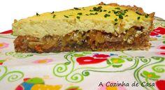 Torta integral de alho-poró com cebola adocicada
