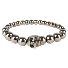 Refresh your accessories with this skull beaded bracelet from Alexander McQueen. This elasticated piece features a multi bead design and adorned with the brands signature skull logo, this piece is not one to be missed. Skull Logo, Skull Print, Skull Bracelet, Beaded Bracelets, Mens Designer Accessories, Skull Scarf, Men's Fashion Brands, Beaded Skull, Mens Sale