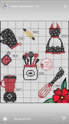 Cross Stitch Kitchen, Pixel Art, Cross Stitch Patterns, Holiday Decor, Cross Stitch Embroidery, Craft, Laying Hens, Bees, Hand Embroidery