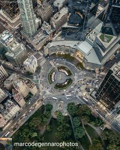 Columbus Circle from above by Marco Degennaro Photos  New York City Feelings  The Best Photos and Videos of New York City including the Statue of Liberty, Brooklyn Bridge, Central Park, Empire State Building, Chrysler Building and other popular New York places and attractions