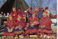 Finland - Lapland - Traditional clothing of the Granny's on Lady's Day in Lapland